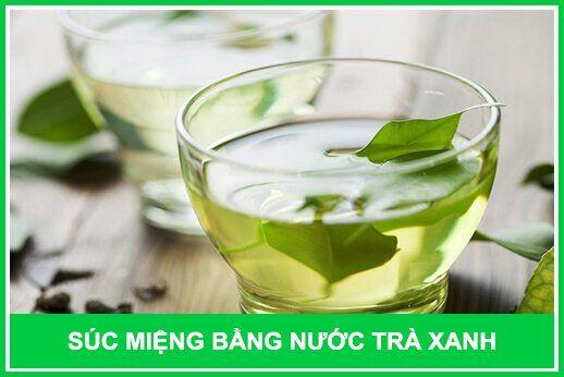 nước trà xanh giảm lở miệng