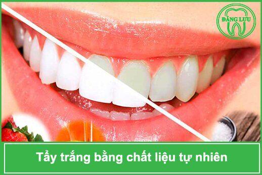 tẩy trắng răng tự nhiên