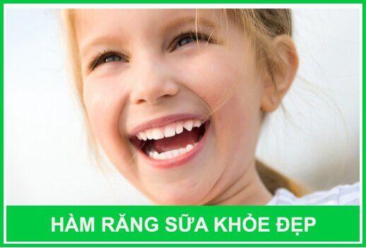 hàm răng sữa khỏe đẹp